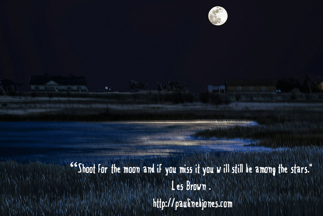 Super moon over alkali marsh