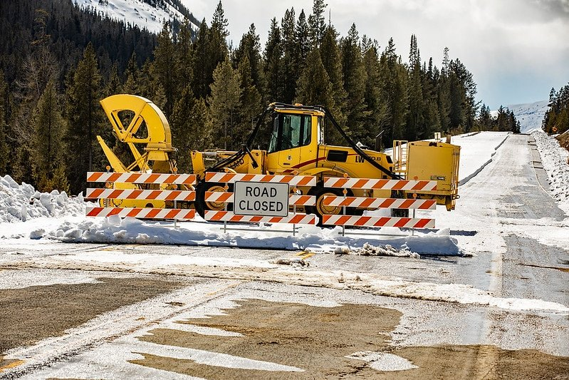 road half closed